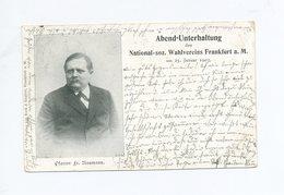 1903 Dt. Reich Einladungspostkarte Abend Unterhaltung Des Nationalsozialer Verein Frankfurt Pfarrer Naumann - Parteien & Wahlen