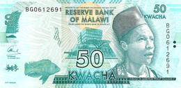 MALAWI 50 KWACHA BLUE MAN HEAD FRONT ELEPHANT ANIMAL BACK P.? NOT MDATED UNC READ DESCRIPTION !! - Malawi