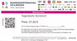 BRD Heilbronn Bundesgartenschau 2019 Tageskarte Senioren - Eintrittskarten
