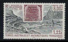 T.A.A.F. // 2001 //  No.297 Y&T Neuf** Mémorial Des Astronomes à Saint-Paul - Neufs