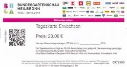 BRD Heilbronn Bundesgartenschau 2019 Eintrittskarte Tageskarte Erwachsen - Eintrittskarten