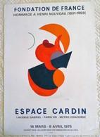 AFFICHE ANCIENNE ORIGINALE LITHOGRAPHIQUE EXPOSITION HENRI NOUVEAU 1975 MOURLOT IMPRIMEUR - Posters