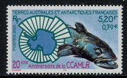 T.A.A.F. // 2001 //  No.307 Y&T Neuf** 20ème Anniversaire De La CCAMLR - Nuevos