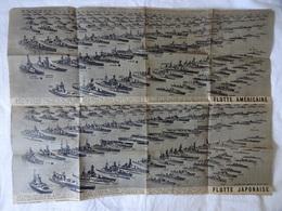 GUERRE DU PACIFIQUE . - . NOMS ET REPRESENTATIONS  DES  BATEAUX DE LA FLOTTE AMERICAINE, ET JAPONAISE - Boats