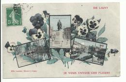 LIGNY EN BARROIS (55) Je Vous Envoie Ces Fleurs - Ligny En Barrois