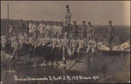Militär-AK Pionierkommando II. Battl. Infanterie-Regiment138 DIEUZE 7.8.1911 - Militaria