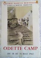 AFFICHE ANCIENNE ORIGINALE LITHOGRAPHIQUE EXPOSITION ODETTE CAMP 1962 MOURLOT IMPRIMEUR IBIZA - Posters