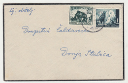 Croatia WWII NDH Letter Cover Travelled 1944 To Donja Stubica B190615 - Croatie