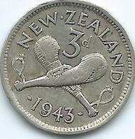 New Zealand - George VI - 1943 - 3 Pence - KM7 - Nouvelle-Zélande