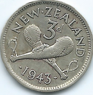 New Zealand - George VI - 1943 - 3 Pence - KM7 - New Zealand