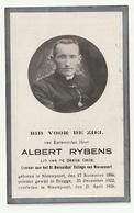Doodsprentje Albert RYBENS Nieuwpoort 1896 Leraar Priester Nieuwpoort 1926 - Devotion Images