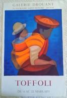 AFFICHE ANCIENNE ORIGINALE EXPOSITION TOFFOLI IMPRIMEUR MOURLOT 1975 - Posters