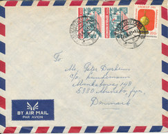 Indonesia Air Mail Cover Sent To Denmark 23-6-1987 - Iran