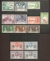 NYASALAND 1937 - 1951 COMMEMORATIVE SETS MOUNTED MINT Cat £8+ - Nyassaland (1907-1953)