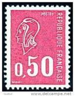 France Marianne De Béquet N° 1664 ** Le 0,50 Fr Rouge - 1971-76 Marianne Of Béquet