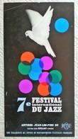 SUPERBE AFFICHE ORIGINALE ANCIENNE 1966 7è FESTIVAL INTERNATIONAL DU JAZZ ANTIBES JUAN LES PINS Illustrateur G. Hage - Posters