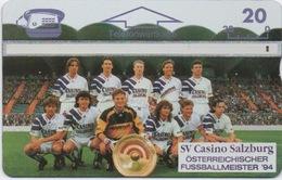 Télécarte Autriche : SV Casino Salzburg : Football Champion National 1994 - Autriche