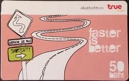 Mobilecard Thailand - True - Faster Is Better - Straße Nach Bangkok - Thaïland