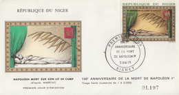 Enveloppe  FDC  1er  Jour   NIGER   Mort  De  NAPOLEON   1971 - Napoléon