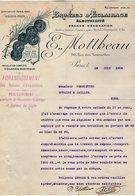 VP15.163 - Lettre - Bronzes D'Eclairage - Electricité E. MOTTHEAU à PARIS Rue Des Tournelles - Electricity & Gas