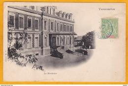 5 C Type Groupe Obl Sur CPA De 1909 : Résidence Du Gouverneur, Tananarive, MADAGASCAR : - Madagascar (1889-1960)