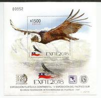 CHILI. , Le Condor Des Andes , Vultur Gryphus, Un Bloc-feuillet Neuf **, Année 2018 - Eagles & Birds Of Prey