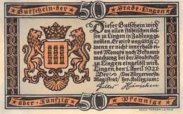 50 Pfg. Notgeld Lingen VF/F (III) - [11] Local Banknote Issues