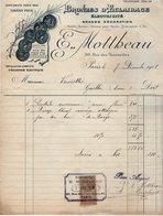 VP15.166 - Lettre - Bronzes D'Eclairage - Electricité E. MOTTHEAU à PARIS Rue Des Tournelles - Electricity & Gas