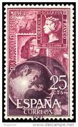 ESPAÑA SPAIN AÑO YEAR 1964 EDIFIL Nº 1595 ** MNH - DIA MUNDIAL DEL SELLO - 25 Cts - 1961-70 Nuevos & Fijasellos