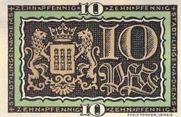 10 Pfg. Notgeld Lingen VF/F (III) - [11] Local Banknote Issues
