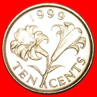 + FLOWER (1999-2009): BERMUDA ★ 10 CENTS 1999 MINT LUSTER! LOW START ★ NO RESERVE! - Bermuda
