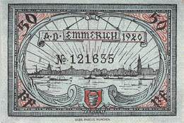 50 Pfg. Notgeld Emmrich UNC (I) - [11] Local Banknote Issues
