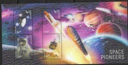 NEW ZEALAND, 2019, MNH, SPACE, SPACE PIONEERS, 3D SHEETLET - Raumfahrt