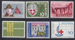 Switzerland 1963 Anniversaries 6v ** Mnh (43166) - Zwitserland