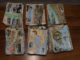 Lot Cartes - Plus De 1300 Cartes Géographiques CPM Et CPSM Format 10,5 X 15 Cm -  Lot Sympathique Et Propre - A Voir - 500 Postcards Min.