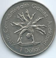 New Zealand - Elizabeth II - 1989 - 1 Dollar - Commonwealth Games Gymnastics - KM68 - New Zealand