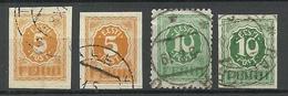 Estland Estonia 1919 Michel 6 - 8 O Numeral Design - Estland