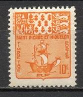 Blason (Bateau) - St Pierre Et Miquelon - 1947 - Timbres-taxe