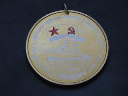Medal Of The USSR Soviet Russia Ship Fleet Navy Jubilee Aluminum  Vintage - Russia