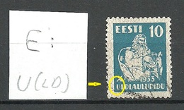 ESTLAND Estonia 1933 Michel 101 + Error Plattenfehler E: 3 Abart O - Estland