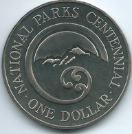 New Zealand - Elizabeth II - 1987 - 1 Dollar - Centennial Of National Parks - KM65 - New Zealand