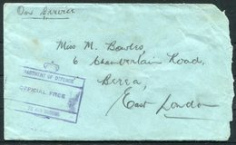 WW2 South Africa No 22 Air School, OFFICIAL FREE Cover - East London - Covers & Documents