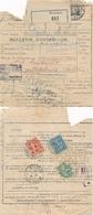 1931 BULLETIN EXPEDITION COLIS TUNISIE - TAXE TARIF à 1f55 SEMEUSE BLANC - FISCAL Régence De TUNIS - Oranges - Marcophilie (Lettres)