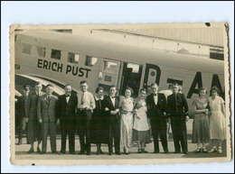 U7073/ Flugzeug Ju 52 Erich Pust Flughafen Stuttgart-Böblingen Foto AK Ca.1940 - Avions