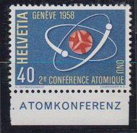 Switzerland 1958 Conférence Atomique Nations Unies 1v (+margin) ** Mnh (43173B) - Zwitserland