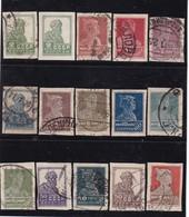 # Z.10024 Russia 1925, Incomplete Set WM 7, Imperforate Used, Michel: 272B - 78B, 80B, 81B, 84B - 88B: Definitive Issue - 1923-1991 URSS