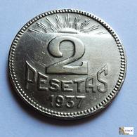 España - Consejo De Asturias Y León - 2  Pesetas - 1937 - [ 3] 1936-1939 : Guerra Civil
