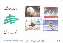Lebanon-Liban-LIQUIDATION OFFER- ARMY DAY 4v. On Officila FDC 2008- Scarce Set- SKRILL PAY. ONLY - Libanon