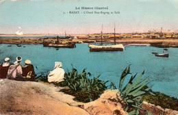 RABAT (Maroc) - L'Oued Bou-Regreg Et Salé - Cpa Colorisée En  Bon état - 2 Scans - Rabat