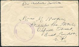 1941 South Africa, Zwartkop Air Station OAS Cover . Pilot And Observers Pool And Reserve Squadron, S.A.A.F. Pretoria - Covers & Documents